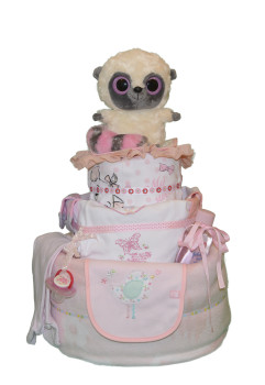 Торт из памперсов «Милой девочке»