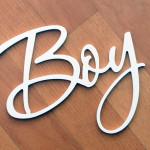 Пластиковая интерьерная надпись Boy
