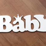 Пластиковая интерьерная надпись Baby