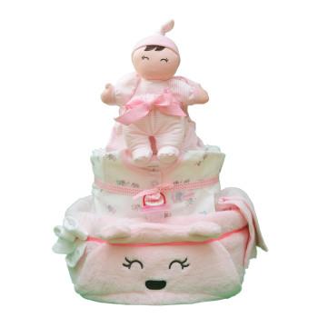 Торт из памперсов «Нежная девочка»