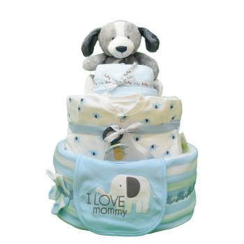 Торт из памперсов «Милый щенок»