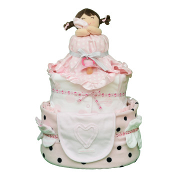 Торт из памперсов «Куколка»
