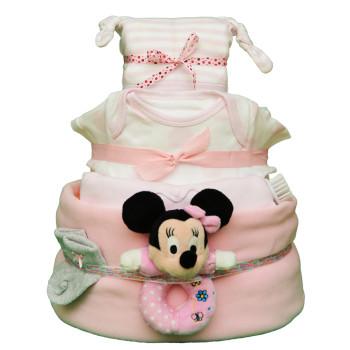 Торт из памперсов «Розовый»