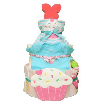 Торт из памперсов «Пирожное»