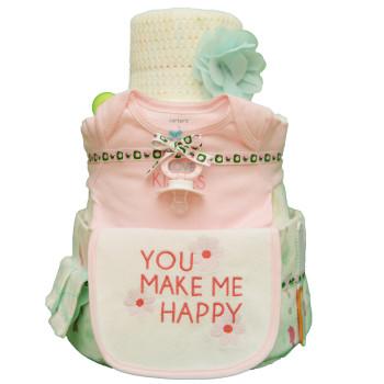 Торт из памперсов «Нежный возраст»