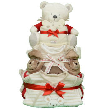 Эксклюзивный торт из памперсов «Мой первый Новый Год»