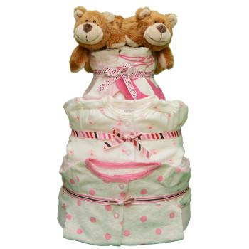 Торт из памперсов для двойняшек «Медвежата»