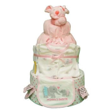 Торт из памперсов «Розовая мышка»