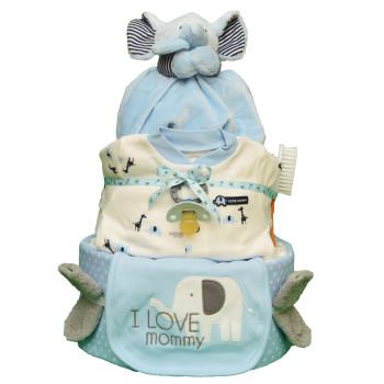 Торт из памперсов «Слоненок»