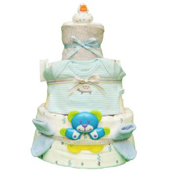 Торт из памперсов «Белая уточка»