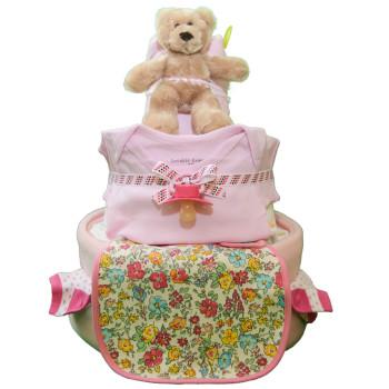 Торт из памперсов «Цветочная поляна»