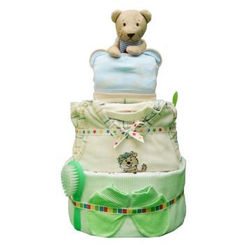 Торт из памперсов «Клетчатый»