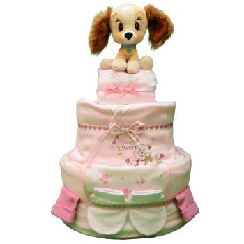Торт из памперсов «Маленькая леди»
