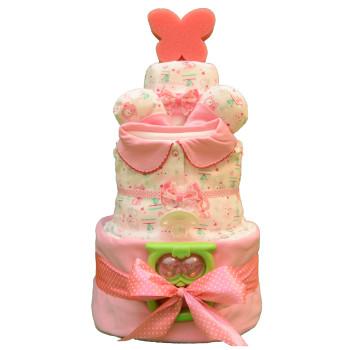 Торт из памперсов «Розовые котята»