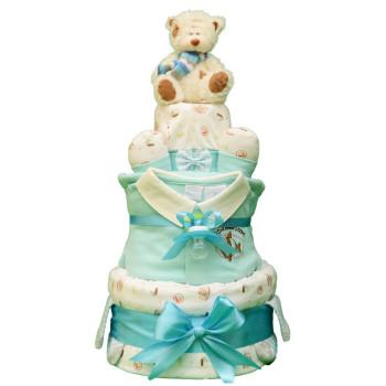 Торт из памперсов «Кораблики»