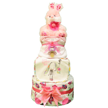 Торт из памперсов «Пушистый зайчик»