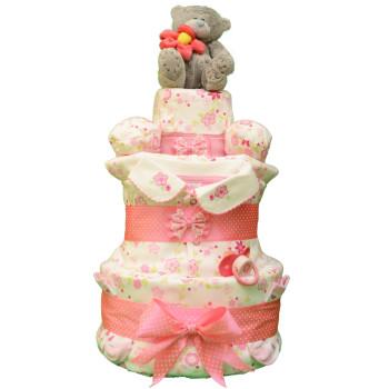 Торт из памперсов «Цветочные узоры»