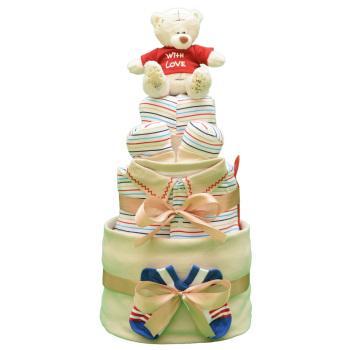 Торт из памперсов «Полосатый рейс»