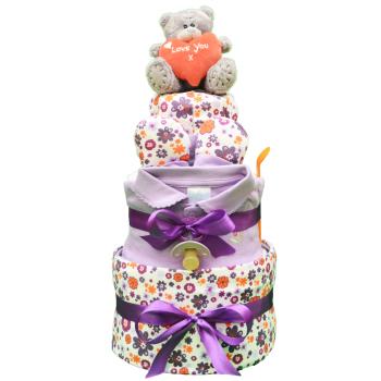Торт из памперсов «Сиреневый сад»