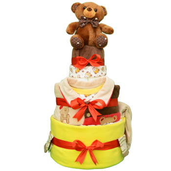 Торт из памперсов «Любимый мишка»