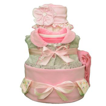 Торт из памперсов «Маленькая принцесса»