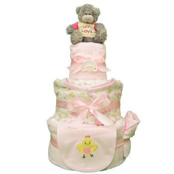 Торт из памперсов «Нежность»