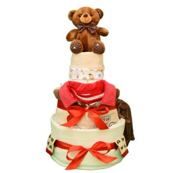 Торт из памперсов «Шоколадный мишка»