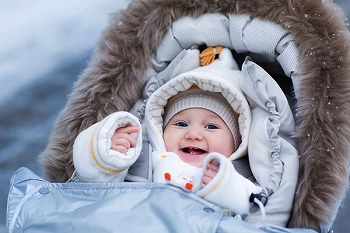 Одеваем малыша для зимней прогулки