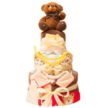 Торт из памперсов «Бурый мишка»