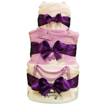 Торт из памперсов «Лиловый»
