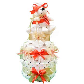 Торт из памперсов «Снежный мишка»